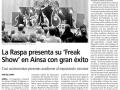 Diario del AltoAragón. 27 de noviembre de 2014.