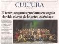 Heraldo de Aragón. 24 de marzo de 2015