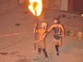 004 - El salto del aro de fuego. 17 de agosto de 2009 en San Esteban de Litera (Huesca). FOTO: Circo La Raspa.