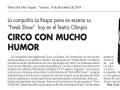 Diario del AltoAragón. 19 de diciembre de 2014.